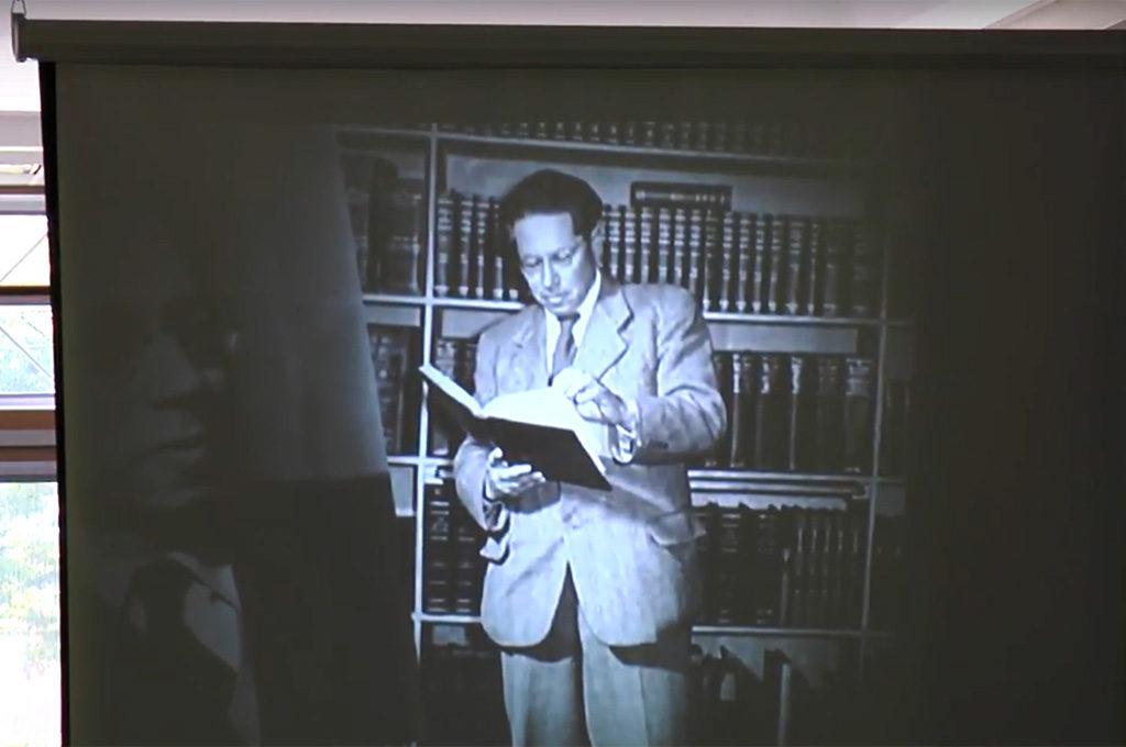 Slide: Man reading book
