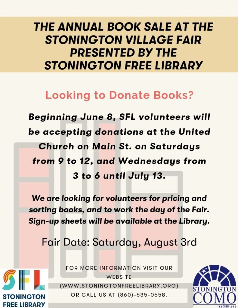 The Annual Book Sale at the Stonington Village Fair