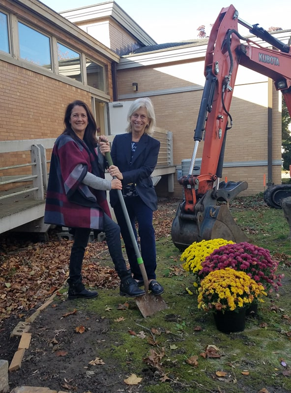Stonington Free Library Breaks Ground