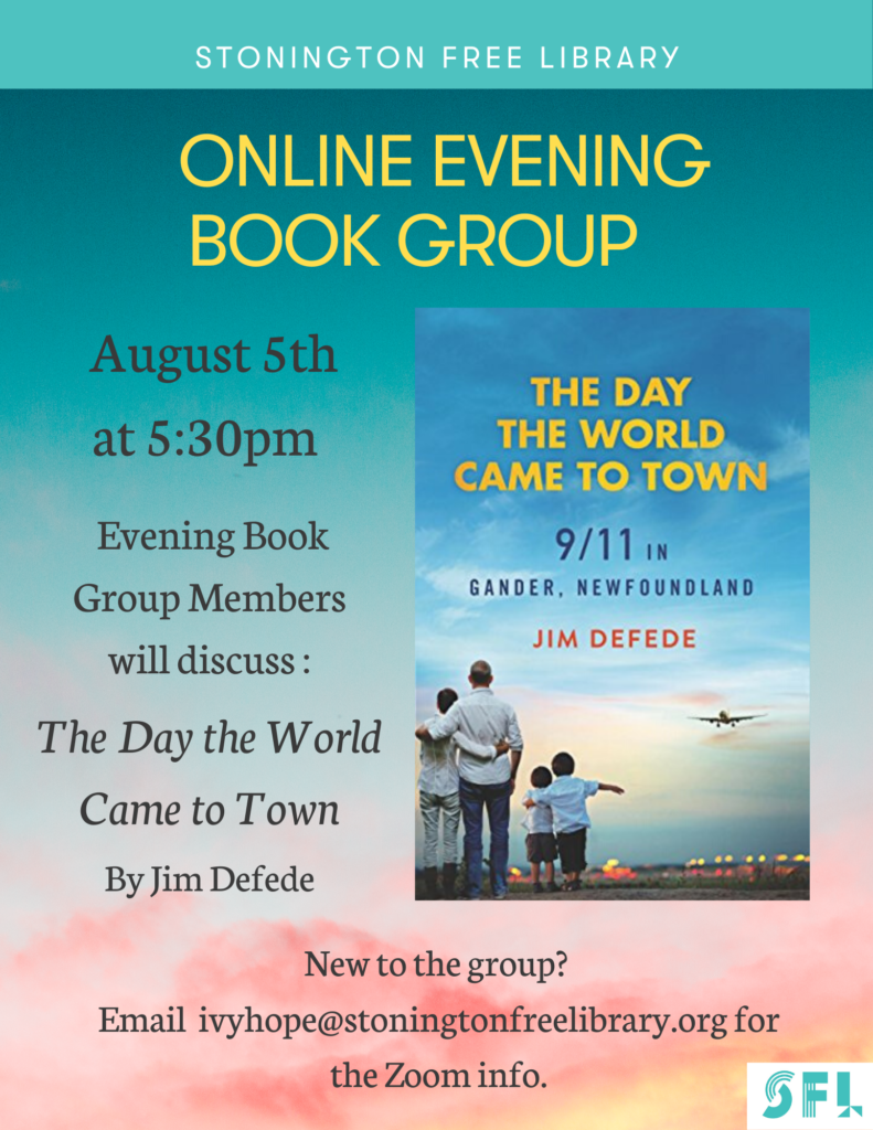 Online Evening Book Group – The Day the World Came to Town